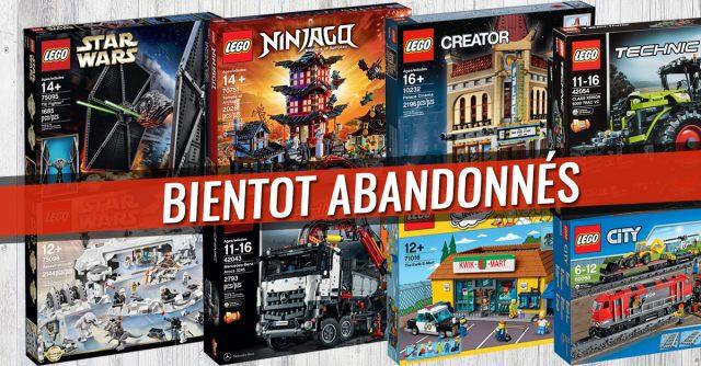 LEGO sets bientot abandonnés 2017