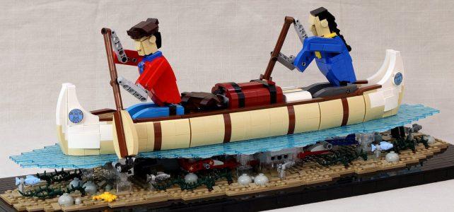 Automate LEGO canoë