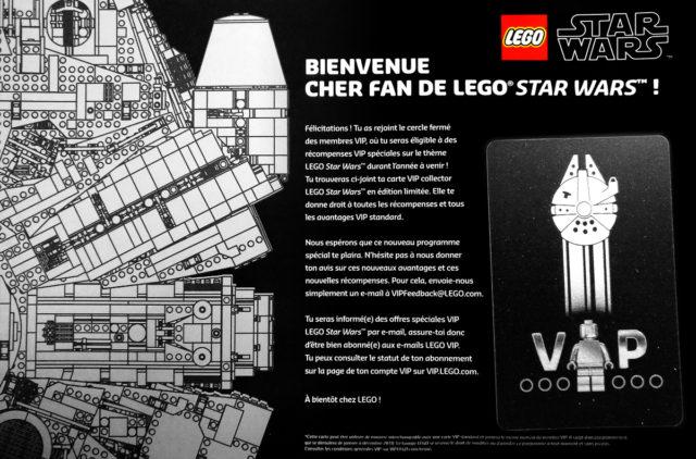Carte VIP LEGO Star Wars Millennium Falcon