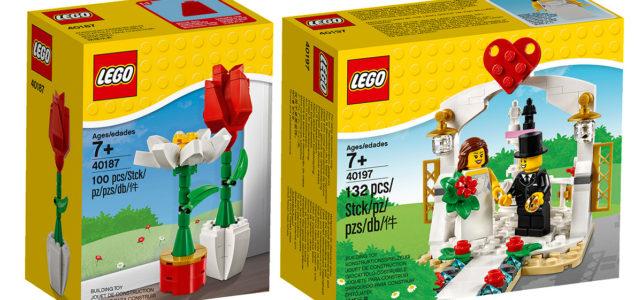 LEGO 40197 Wedding Favor Set et 40187 Flowers