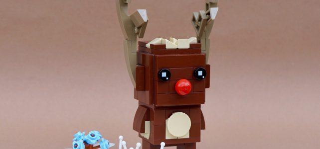 Rudolphe le renne au nez rouge version BrickHeadz