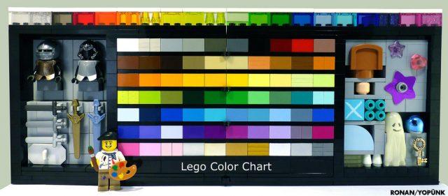 Palette couleurs LEGO 2016