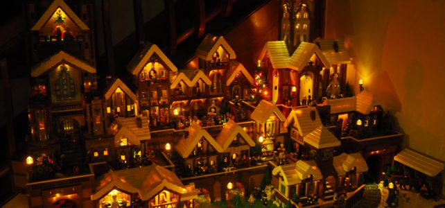 Diorama Winter Village XXL et illuminé