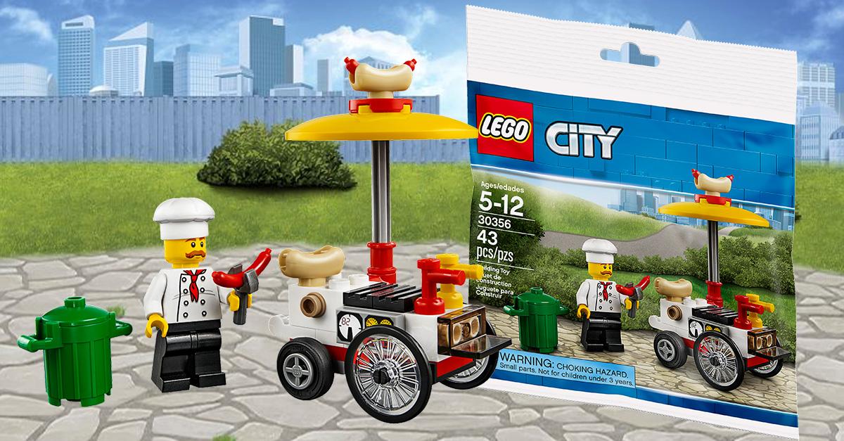 chez lego polybag lego city 30356 hot dog stand offert hellobricks blog lego. Black Bedroom Furniture Sets. Home Design Ideas