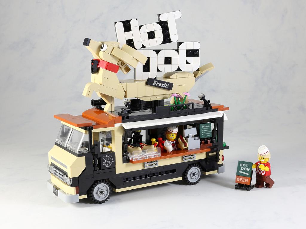 Monster Truck Dog >> Hot dog Food Truck - HelloBricks