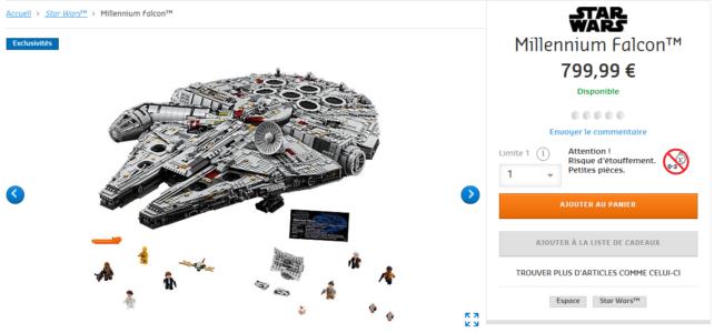 LEGO 75192 UCS Millennium Falcon de retour en stock
