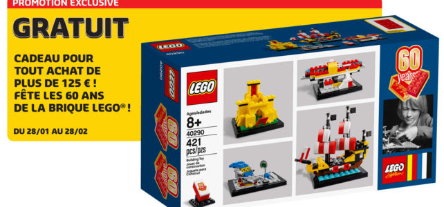 Set anniversaire 60 Years of the LEGO Brick offert