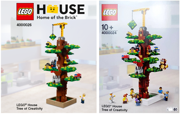 Comparison LEGO Inside Tour Tree of Creativity 400024 400026
