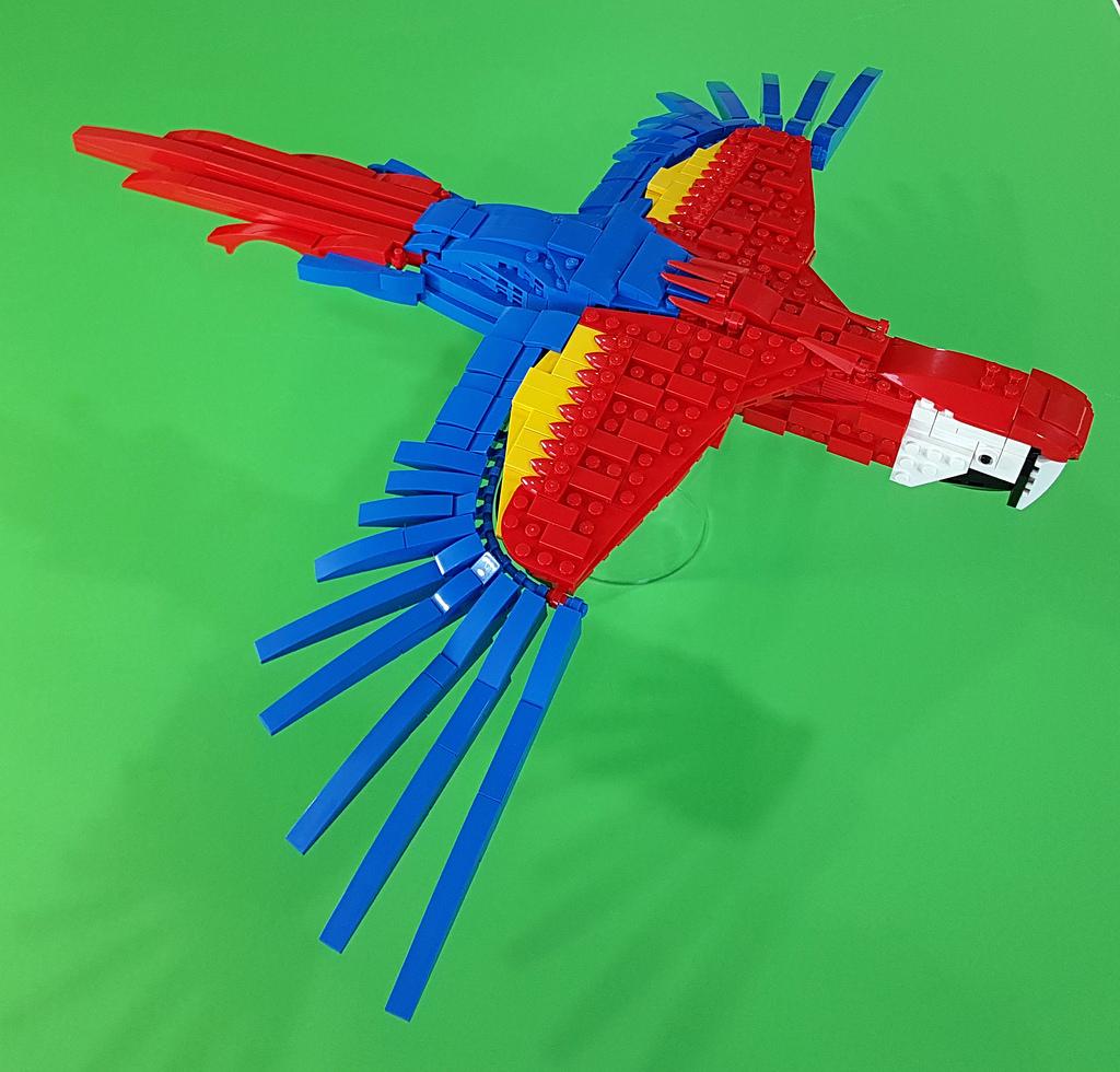 Ara rouge quand on ne doit utiliser que les cinq couleurs primaires de lego hellobricks - Quand doit on tailler les coniferes ...