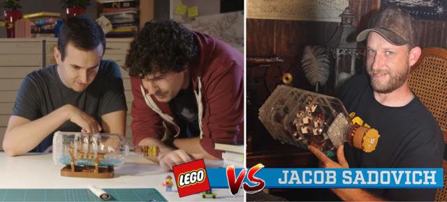 LEGO Ideas 21313 Ship in a Bottle comparison