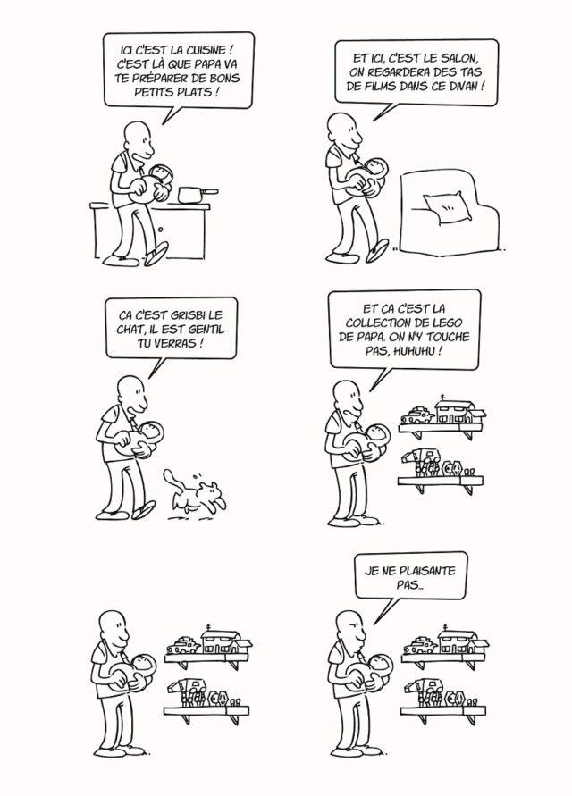 BD LEGO Ma vie de papa Lapuss