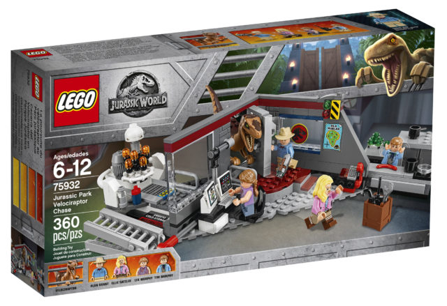 Jurassic World Fallen Kingdom LEGO 75932 Velociraptor Chase