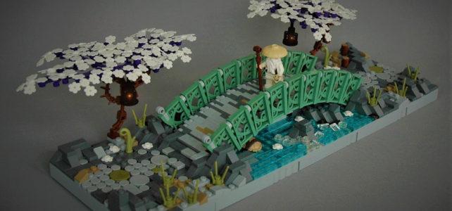 Un petit pont zen et élégant