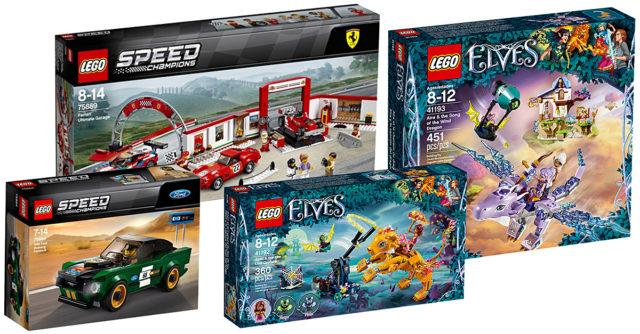 Nouveautés LEGO Speed Champions et Elves 2018
