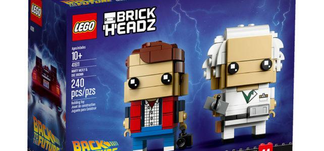 LEGO BrickHeadz 41611 Marty McFly & Doc Brown Retour vers le Futur
