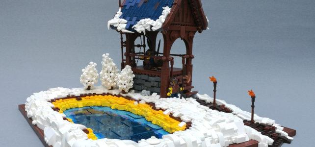LEGO Castle Avant-poste glacé et source chaude contraste