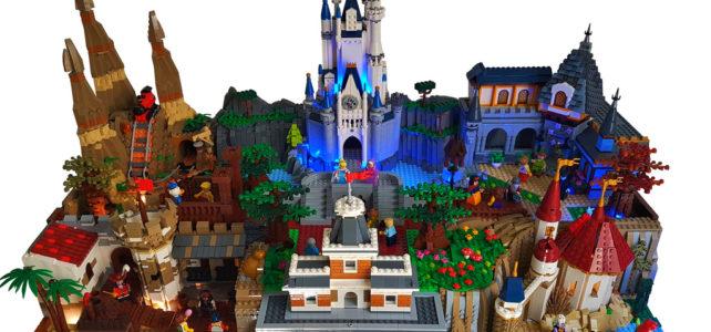 LEGO Disneyworld Orlando Magic Kingdom diorama