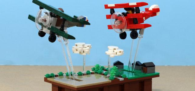 MOC animé avions duel aérien