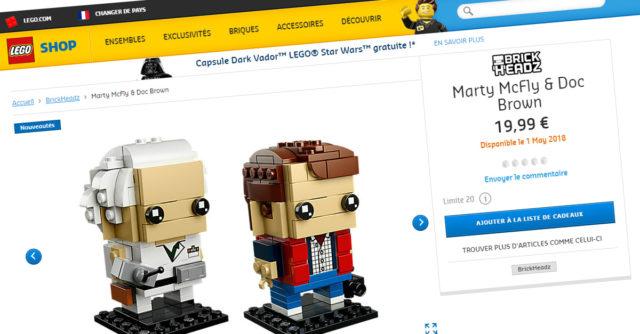 Shop LEGO BrickHeadz 41611 Marty McFly & Doc Brown Retour vers le Futur