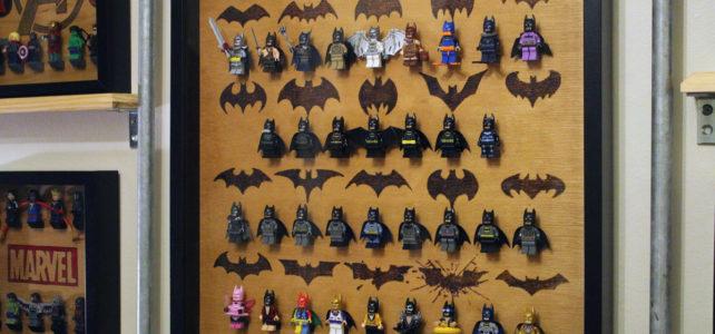 Cadre pyrogravure minifigs LEGO Super Heroes Batman