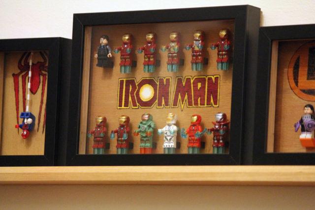 Cadre pyrogravure minifigs LEGO Super Heroes Iron Man
