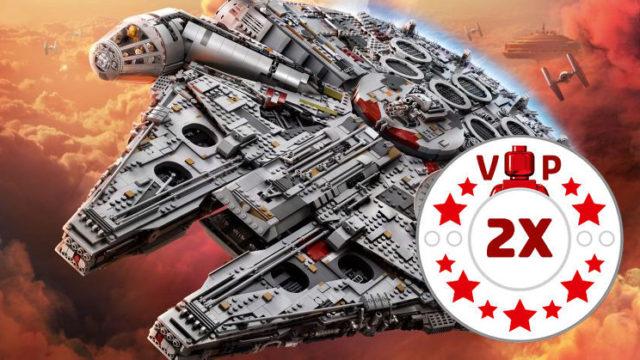 LEGO Millennium Falcon UCS 75192 points VIP x2