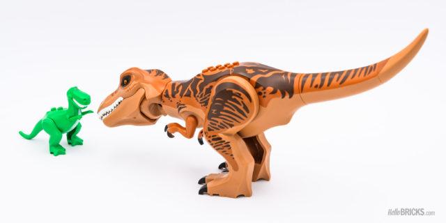 LEGO Rex (Toy Story) VS T-Rex