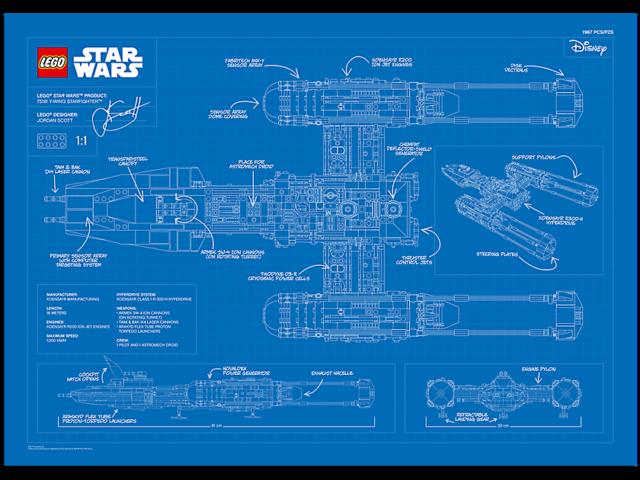 LEGO Star War blueprint Y-Wing UCS 75181