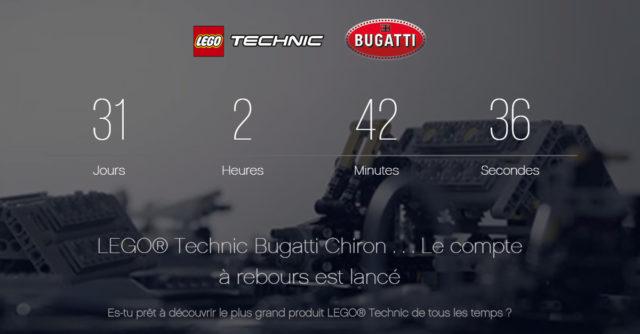 LEGO Technic 42083 Bugatti Chiron countdown