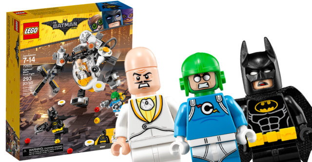 REVIEW LEGO 70920 Egghead Mech Nourriture Fight Batman Movie