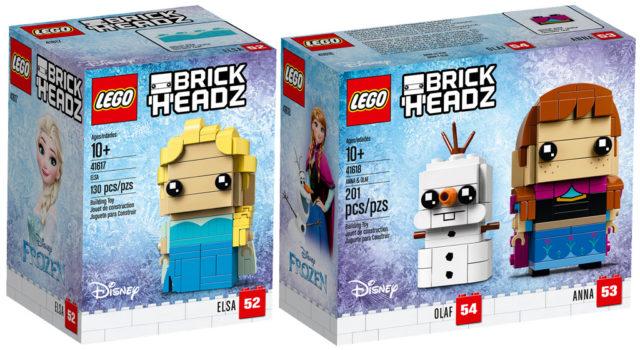 LEGO BrickHeadz Frozen 41617 41618