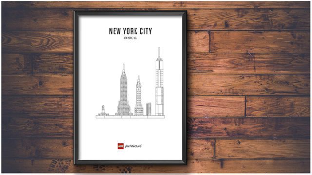 Posters LEGO Architecture affiche