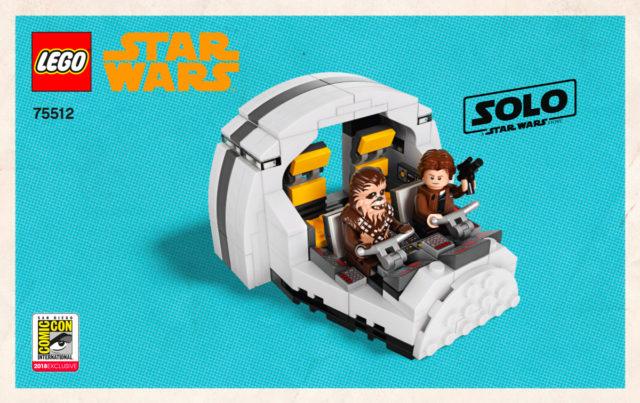 LEGO75512 Millennium Falcon Cockpit instructions LEGO SDCC 2018