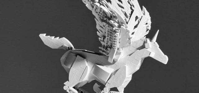 LEGO licorne monochrome