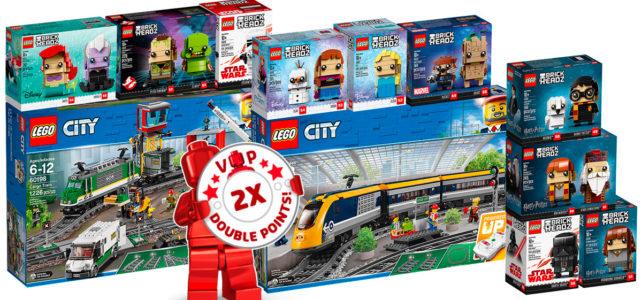 """Chez LEGO : sortie des nouveaux trains LEGO City """"Powered Up"""" et d'une nouvelle vague de BrickHeadz"""