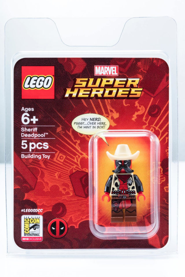 SDCC 2018 LEGO Marvel Sheriff Deadpool
