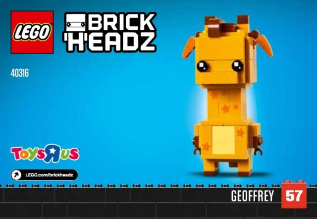 LEGO BrickHeadz 40316 Geoffrey la girafe
