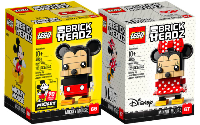 LEGO BrickHeadz 41624 Mickey Mouse et 41625 Minnie Mouse