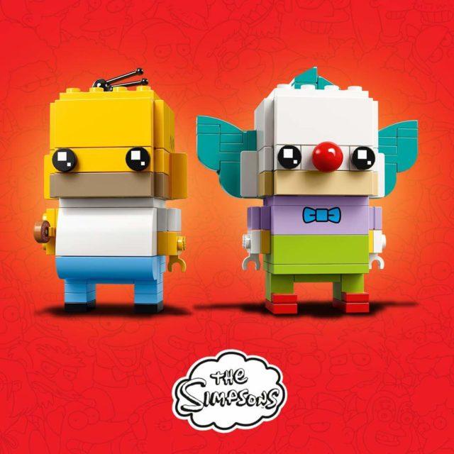 LEGO BrickHeadz Homer Simpson et Krusty