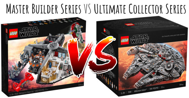LEGO Star Wars Master Builder Series VS Ultimate Collector Series