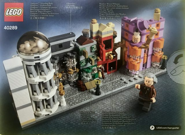 Nouveauté LEGO Harry Potter 40289 Diagon Alley microscale back