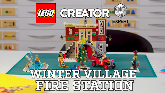 LEGO 10263 Winter Village Fire Station video designer