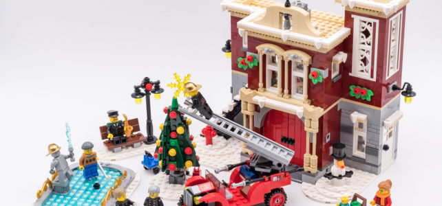REVIEW LEGO Creator Expert10263 Winter Village Fire Station : la caserne de pompiers de Noël