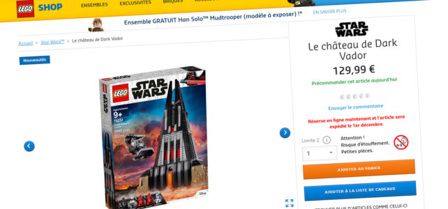 LEGO Star Wars 75251 Darth Vader's Castle précommande