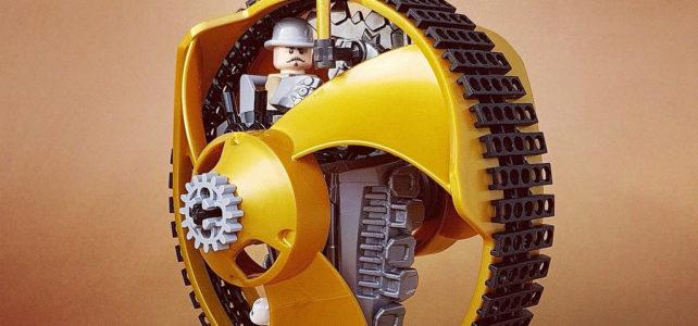 Steampunk Monowheel, ou comment recycler les toupies LEGO Ninjago !