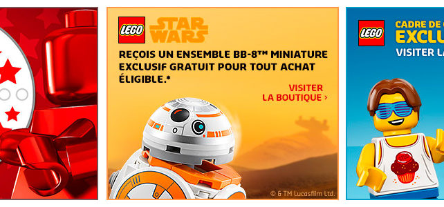 LEGO promotions octobre 2018 VIP BB-8