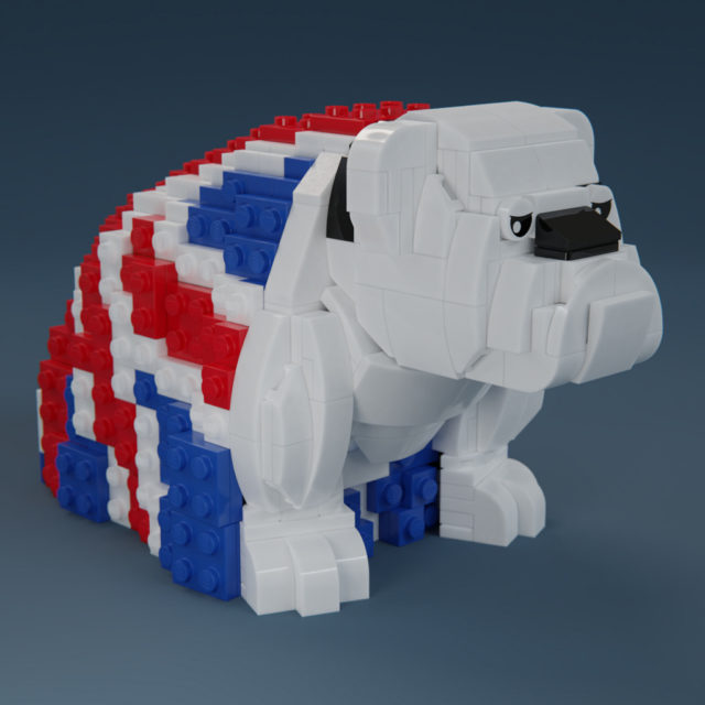 James Bond 007 - LEGO Royal Doulton Bulldog Union Jack