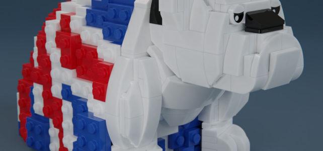 James Bond 007 - LEGO Royal Doulton Bulldog Union Jack