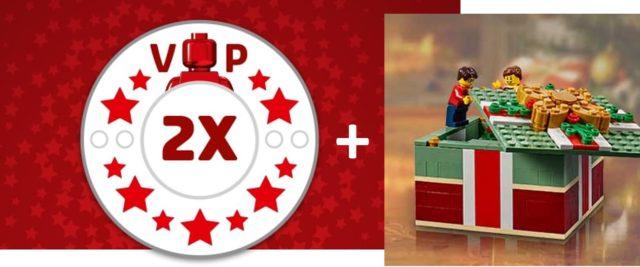 LEGO 40292 Christmas Gift Box et LEGO VIP x2