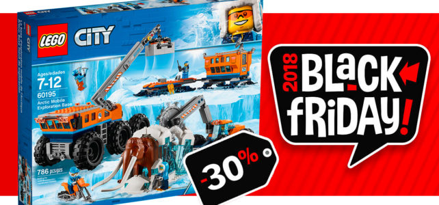 Black Friday 2018 chez LEGO : -30% sur le set LEGO City 60195 Arctic Expedition et son gros mammouth !